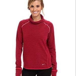 Nike Sprint Fleece Women's Running LS Top Berry S